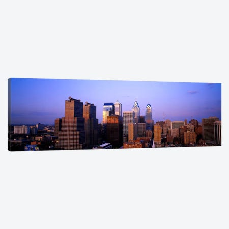 Skyscrapers in a city, Philadelphia, Pennsylvania, USA #3 Canvas Print #PIM403} by Panoramic Images Canvas Artwork