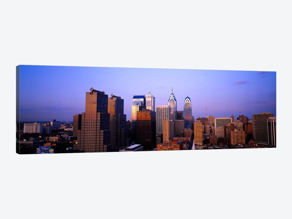 Skyscrapers in a city, Philadelphia, Pennsylvania, USA #3 by Panoramic Images 1-piece Canvas Artwork