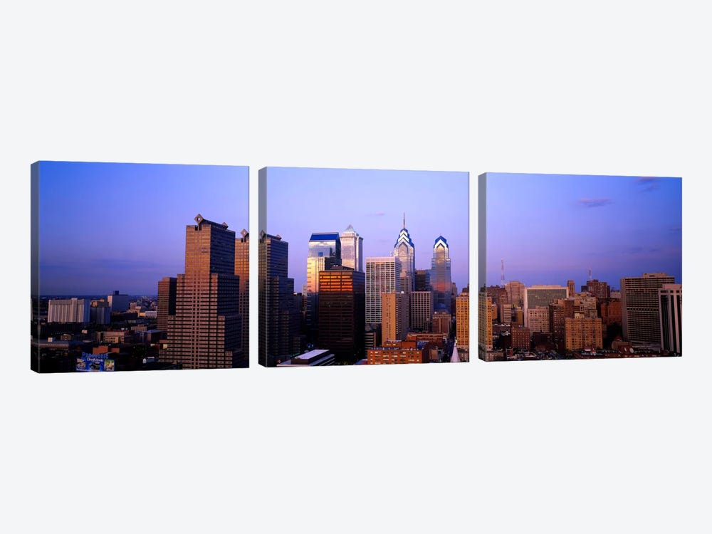 Skyscrapers in a city, Philadelphia, Pennsylvania, USA #3 by Panoramic Images 3-piece Canvas Art