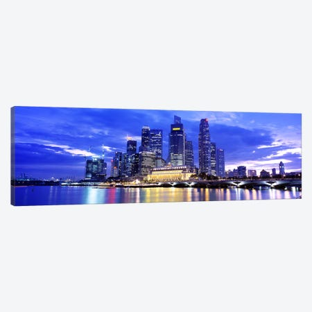 Downtown Skyline At Sunset, Singapore Canvas Print #PIM4055} by Panoramic Images Canvas Art Print