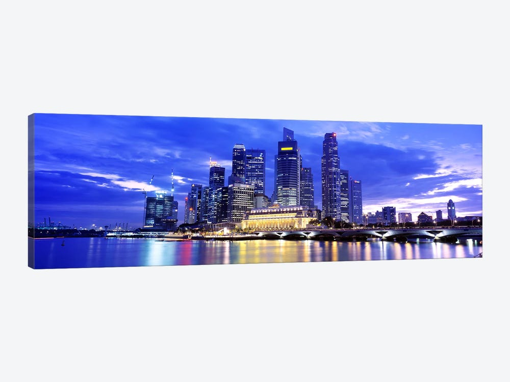 Downtown Skyline At Sunset, Singapore by Panoramic Images 1-piece Canvas Wall Art