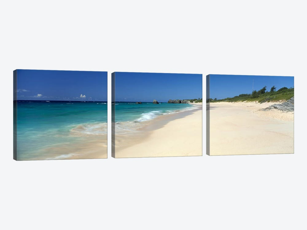 Warwick Long Bay Beach Bermuda by Panoramic Images 3-piece Canvas Art Print