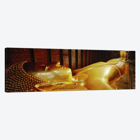Thailand, Bangkok, Wat Po, Reclining Buddha Canvas Print #PIM4057} by Panoramic Images Art Print