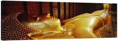 Thailand, Bangkok, Wat Po, Reclining Buddha Canvas Print #PIM4057