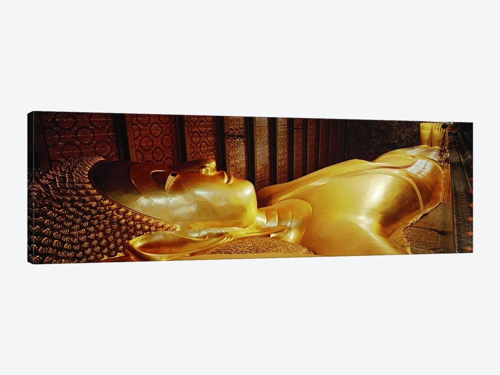 Thailand, Bangkok, Wat Po, Reclining Buddha by Panoramic Images 1-piece Canvas Art