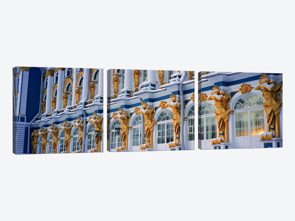 Catherine Palace Pushkin Russia by Panoramic Images 3-piece Canvas Print