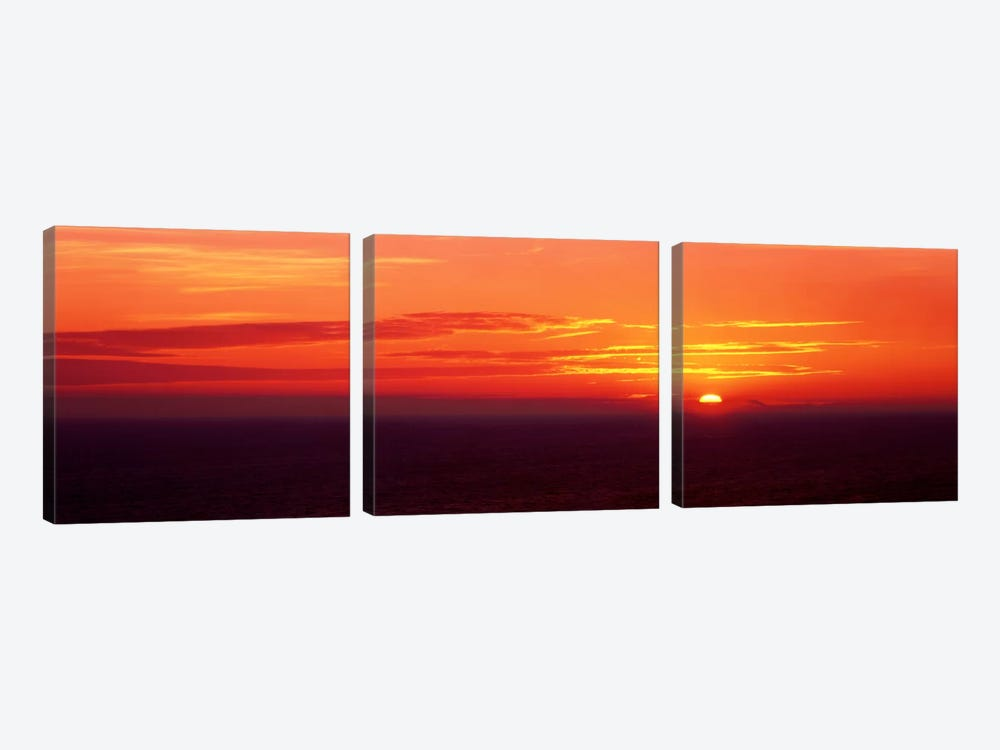 Sunrise Lake Michigan USA by Panoramic Images 3-piece Canvas Wall Art