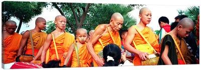 Buddhist Monks Luang Prabang Laos Canvas Print #PIM4060