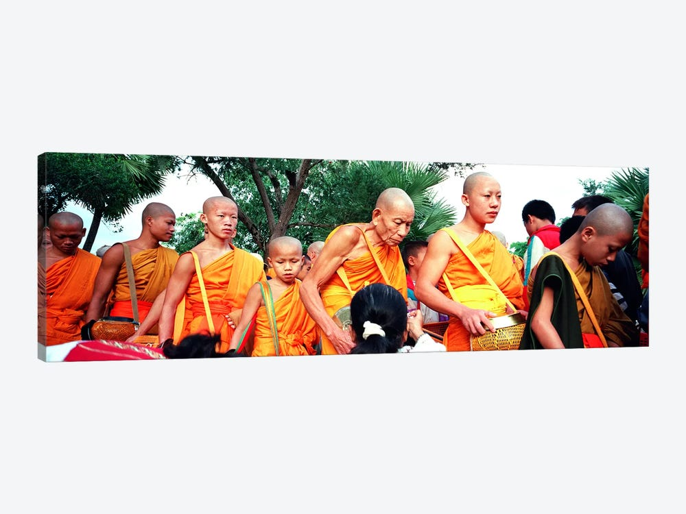 Buddhist Monks Luang Prabang Laos by Panoramic Images 1-piece Canvas Wall Art