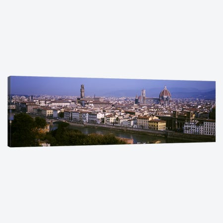 High-Angle View Of The Historic Centre Of Florence, Tuscany, Italy Canvas Print #PIM4065} by Panoramic Images Canvas Art