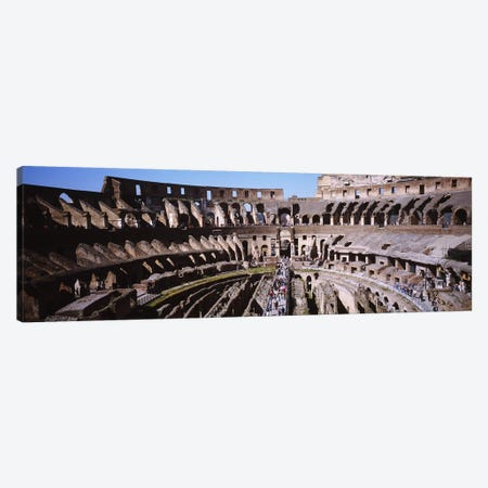 High angle view of tourists in an amphitheater, Colosseum, Rome, Italy Canvas Print #PIM4067} by Panoramic Images Canvas Artwork