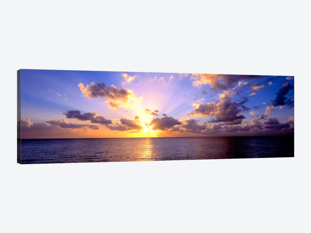 Sunset 7 Mile Beach Cayman Islands Caribbean by Panoramic Images 1-piece Art Print