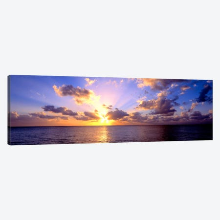 Sunset 7 Mile Beach Cayman Islands Caribbean Canvas Print #PIM406} by Panoramic Images Canvas Art Print