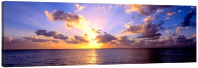 Sunset 7 Mile Beach Cayman Islands Caribbean Canvas Art Print