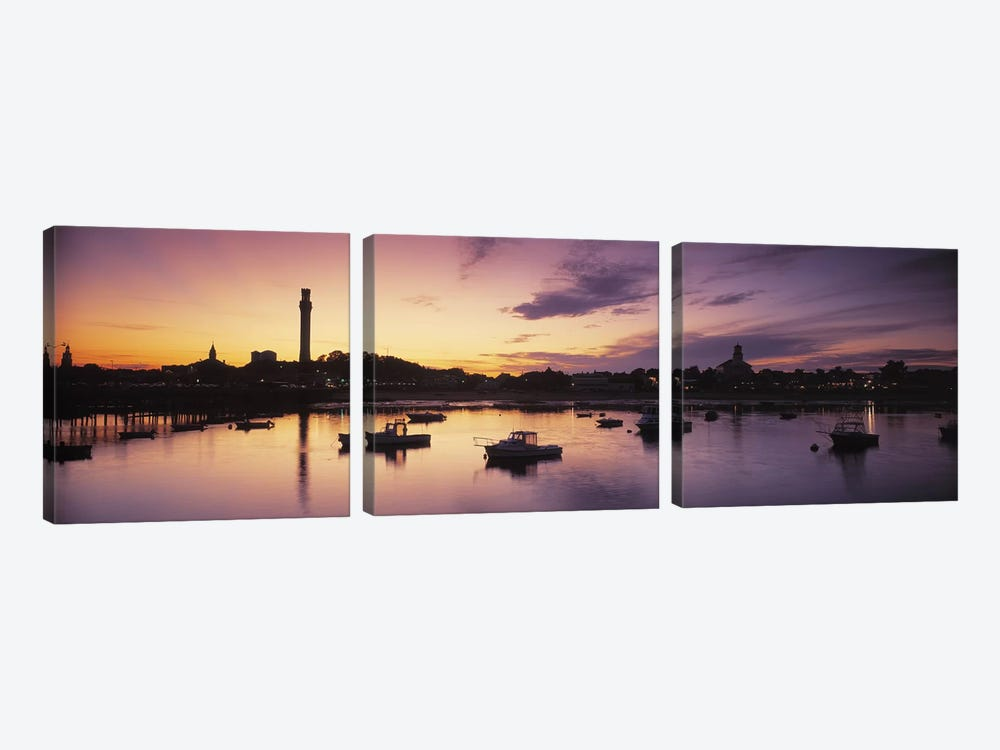 Harbor Cape Cod MA by Panoramic Images 3-piece Canvas Wall Art