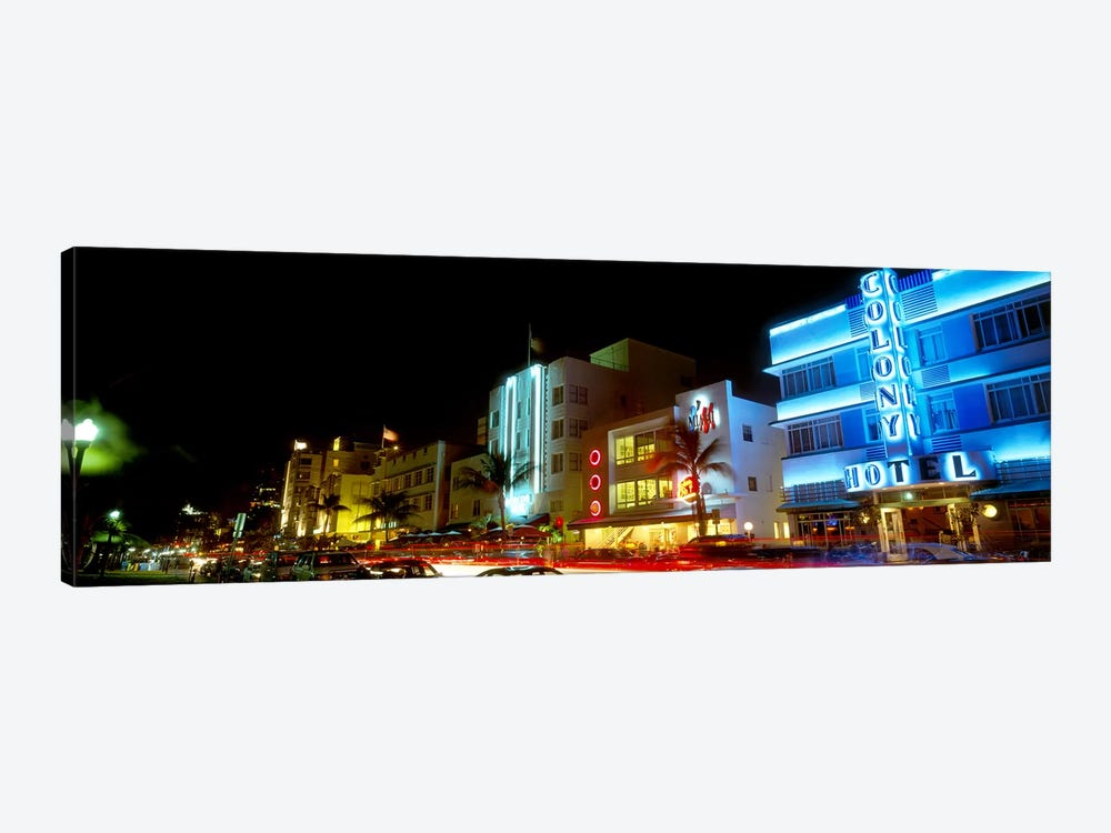 Art Deco Architecture Miami Beach FL by Panoramic Images 1-piece Canvas Artwork