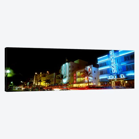 Art Deco Architecture Miami Beach FL Canvas Print #PIM4079} by Panoramic Images Canvas Artwork