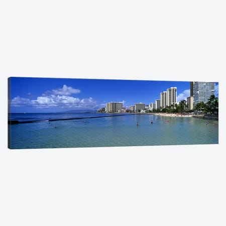 Waikiki Beach Honolulu Oahu HI Canvas Print #PIM4082} by Panoramic Images Canvas Art Print