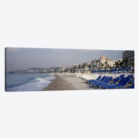 Beach Landscape, Nice, French Riviera, Provence-Alpes-Cote d'Azur, France Canvas Print #PIM4084} by Panoramic Images Canvas Artwork