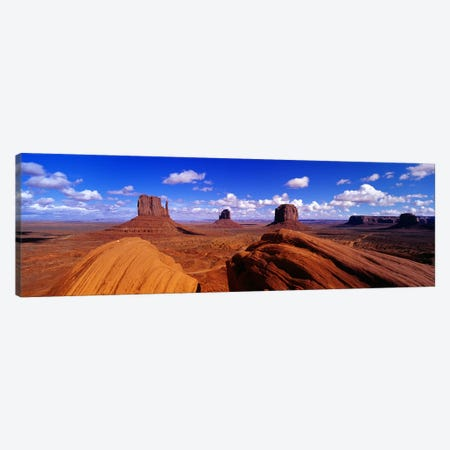 The Mittens & Merrick Butte, Monument Valley, Navajo Nation, Arizona, USA Canvas Print #PIM4086} by Panoramic Images Canvas Wall Art