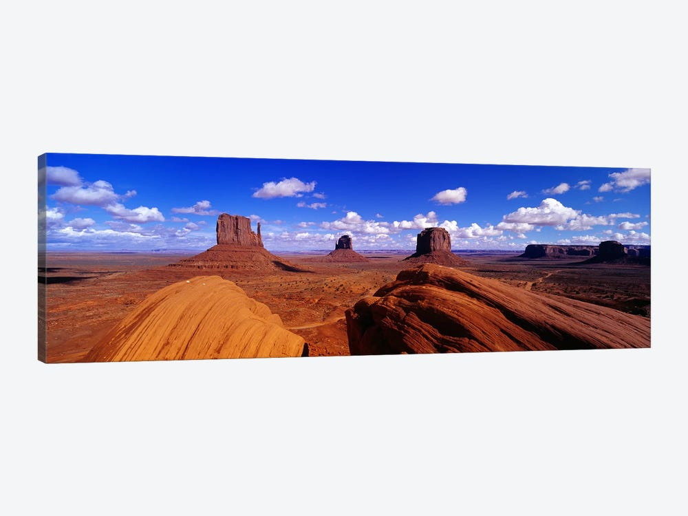 The Mittens & Merrick Butte, Monument Valley, Navajo Nation, Arizona, USA by Panoramic Images 1-piece Canvas Wall Art
