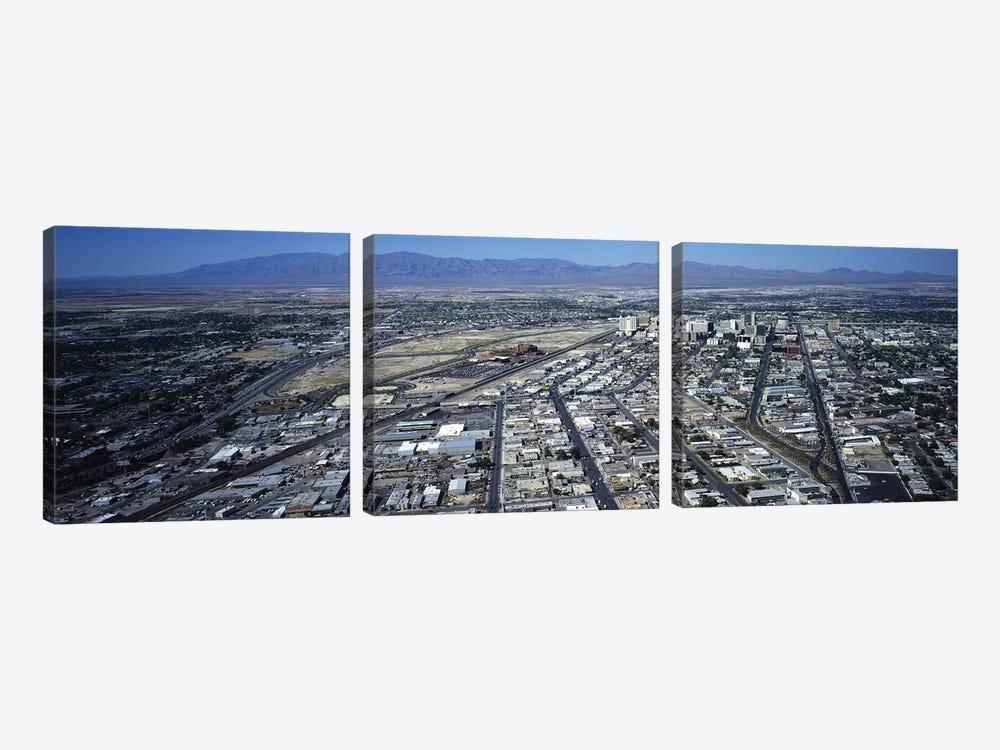 High angle view of a city, Las Vegas, Nevada, USA #3 by Panoramic Images 3-piece Canvas Art