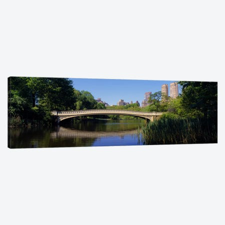 Bridge across a lake, Central Park, New York City, New York State, USA Canvas Print #PIM4098} by Panoramic Images Canvas Artwork