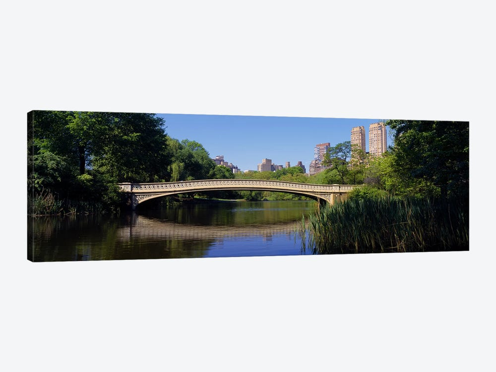 Bridge across a lake, Central Park, New York City, New York State, USA by Panoramic Images 1-piece Canvas Art Print