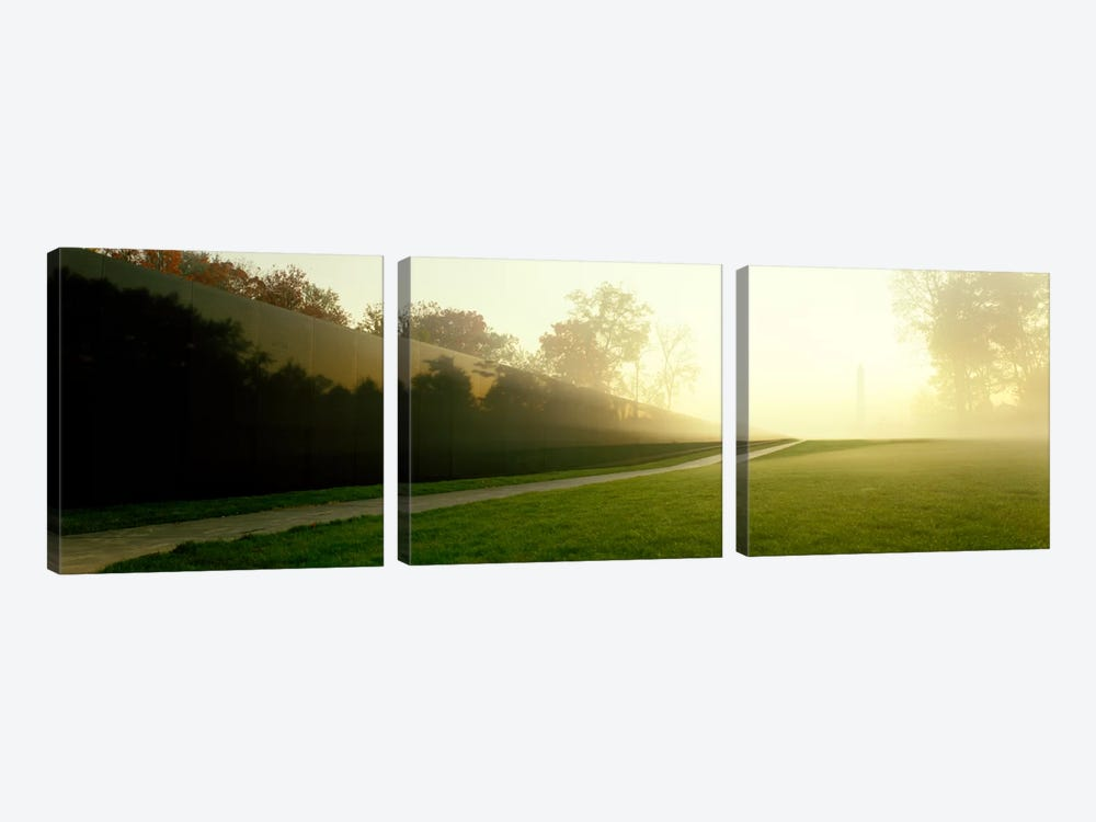 Vietnam Veterans Memorial, Washington DC, District Of Columbia, USA by Panoramic Images 3-piece Canvas Artwork