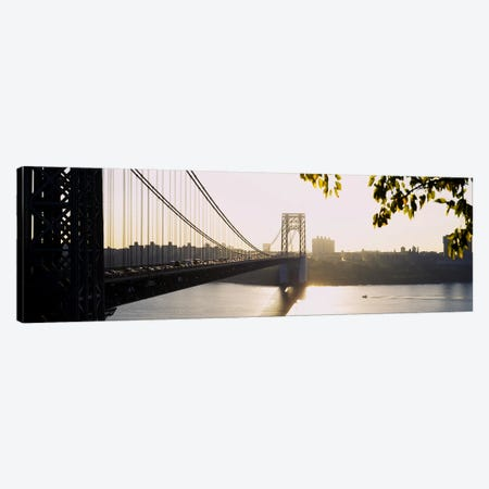Bridge across the riverGeorge Washington Bridge, New York City, New York State, USA Canvas Print #PIM4100} by Panoramic Images Canvas Art