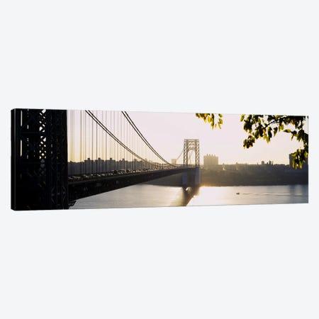 Bridge across the riverGeorge Washington Bridge, New York City, New York State, USA Canvas Print #PIM4100} by Panoramic Images Canvas Art