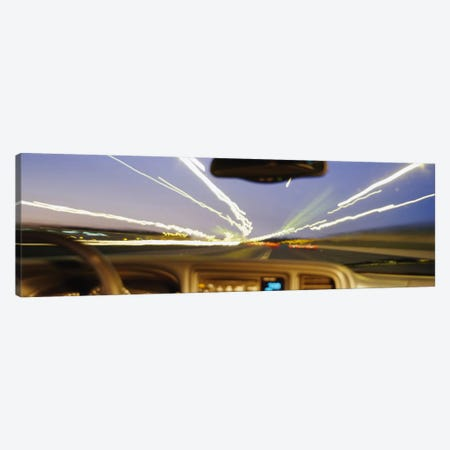 Road viewed from a car, Atlanta, Georgia Canvas Print #PIM4103} by Panoramic Images Canvas Wall Art