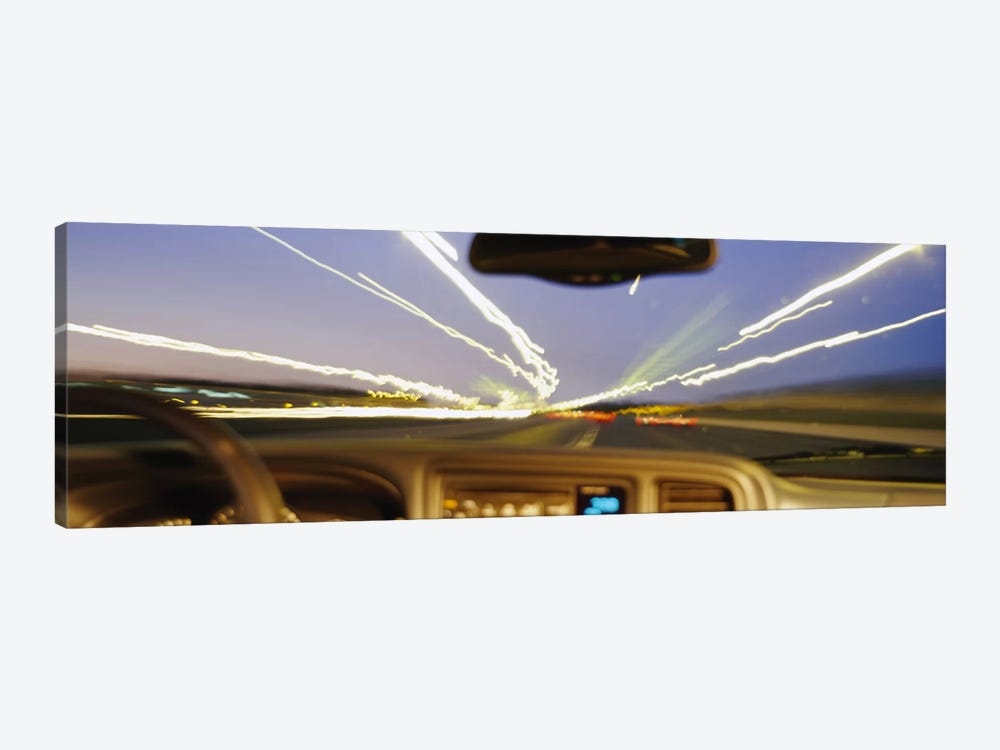 Road viewed from a car, Atlanta, Georgia by Panoramic Images 1-piece Canvas Artwork