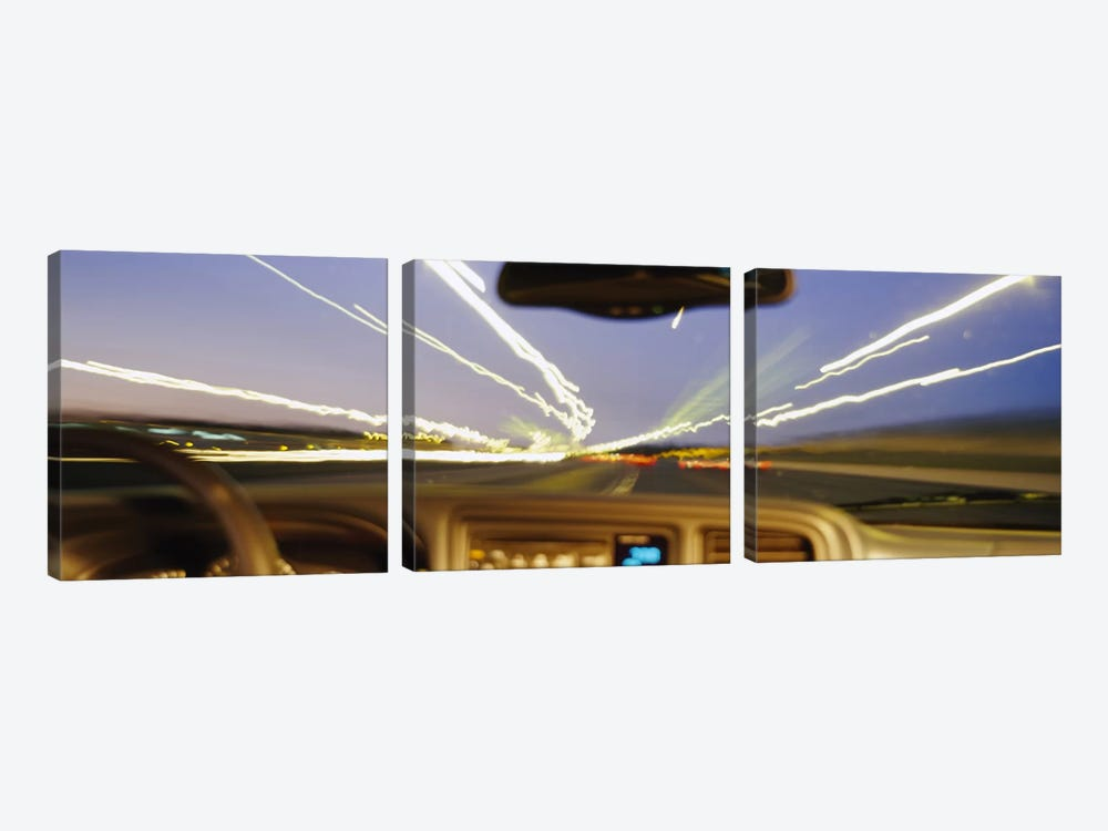 Road viewed from a car, Atlanta, Georgia by Panoramic Images 3-piece Canvas Artwork
