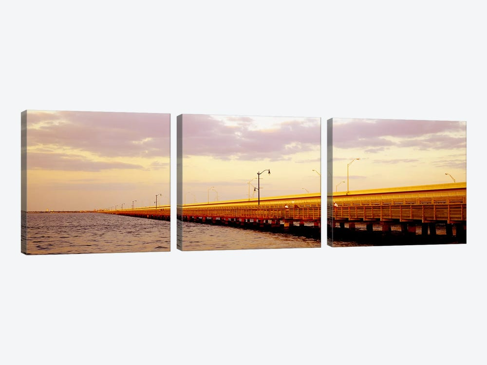 Gandy Bridge Tampa Bay Tampa FL by Panoramic Images 3-piece Canvas Art Print