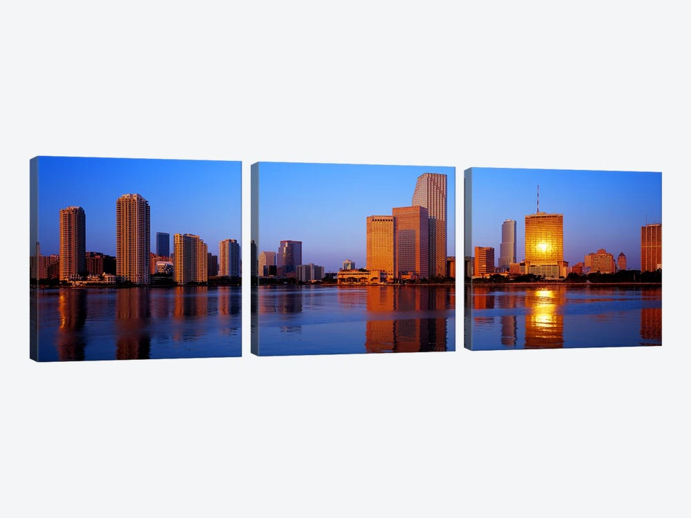 SunriseMiami, Florida, USA 3-piece Canvas Art Print