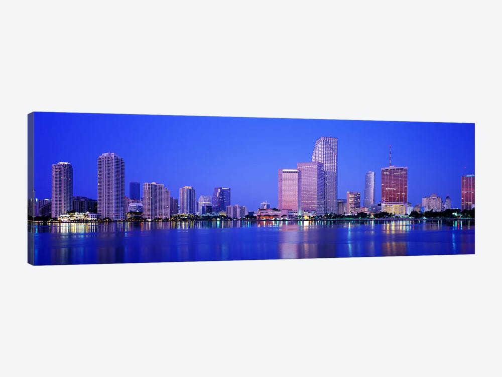 DuskMiami Florida, USA by Panoramic Images 1-piece Canvas Art