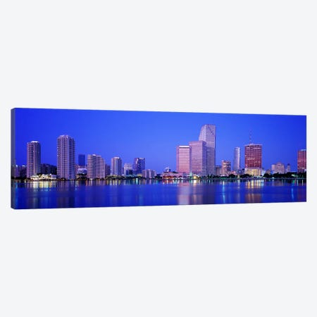 DuskMiami Florida, USA Canvas Print #PIM4114} by Panoramic Images Canvas Art