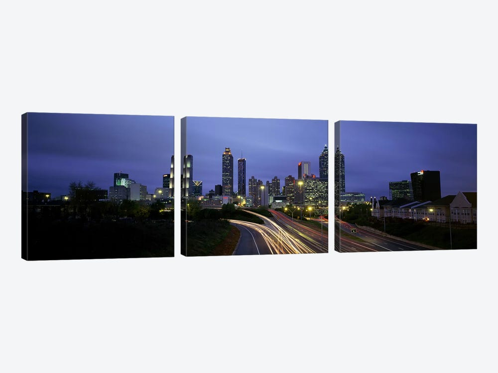 High angle view of traffic on a highwayAtlanta, Georgia, USA by Panoramic Images 3-piece Canvas Artwork