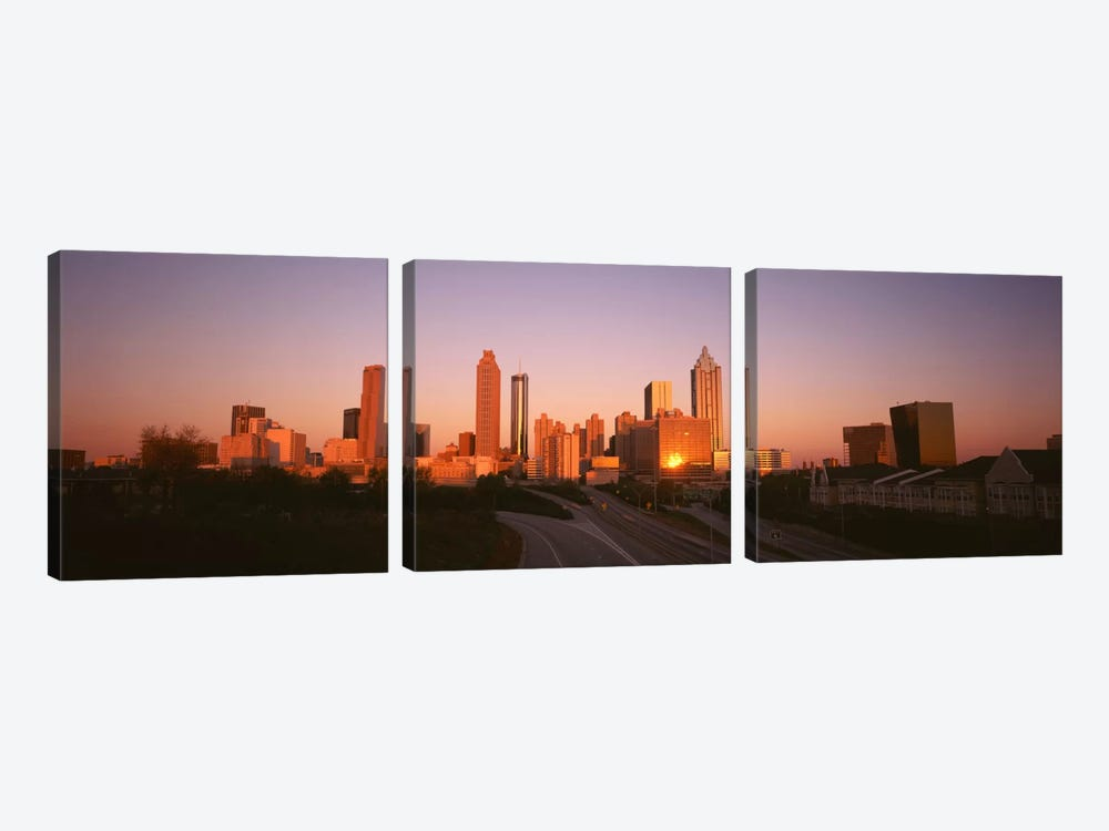 Skyscrapers in a cityAtlanta, Georgia, USA 3-piece Canvas Artwork