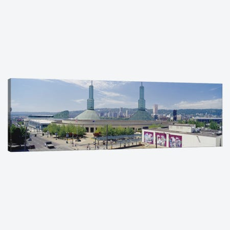 Twin Towers of a Convention Center, Portland, Oregon, USA Canvas Print #PIM4133} by Panoramic Images Canvas Art Print