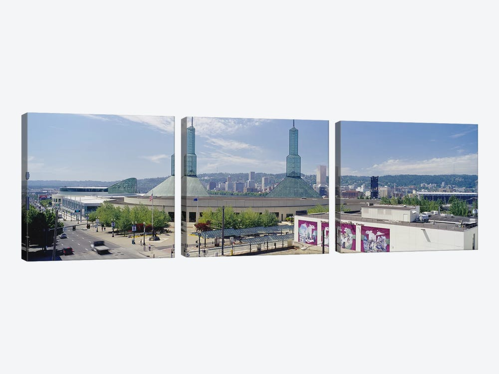 Twin Towers of a Convention Center, Portland, Oregon, USA by Panoramic Images 3-piece Canvas Art Print
