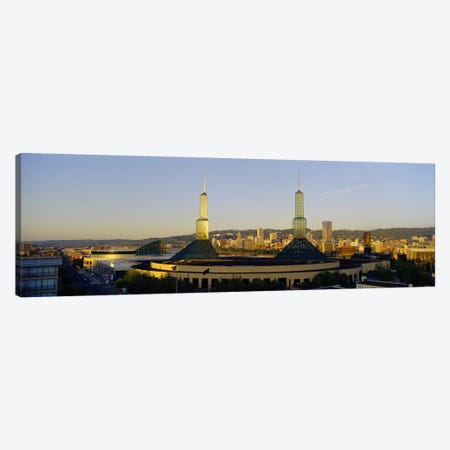 Twin Towers of a Convention Center, Portland, Oregon, USA #2 Canvas Print #PIM4134} by Panoramic Images Canvas Artwork