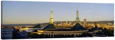 Twin Towers of a Convention Center, Portland, Oregon, USA #2 Canvas Print #PIM4134