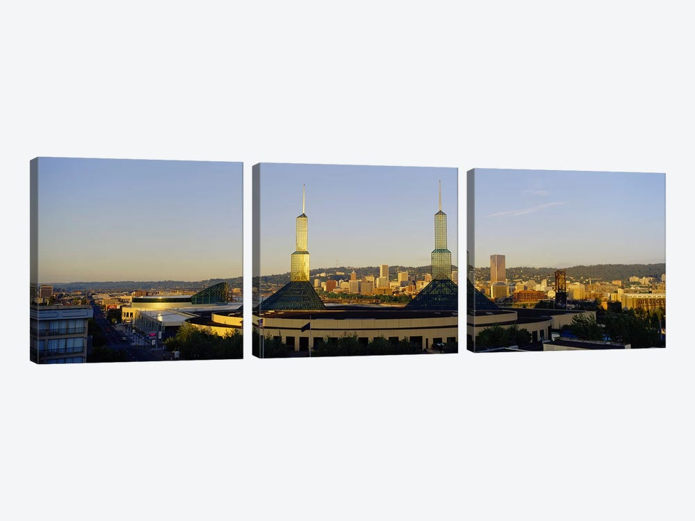 Twin Towers of a Convention Center, Portland, Oregon, USA #2 by Panoramic Images 3-piece Canvas Wall Art