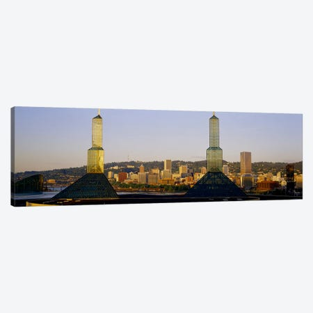 Twin Towers of a Convention Center, Portland, Oregon, USA #3 Canvas Print #PIM4135} by Panoramic Images Canvas Artwork