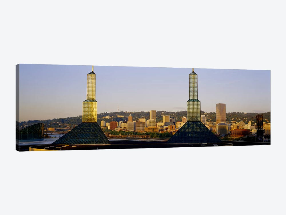 Twin Towers of a Convention Center, Portland, Oregon, USA #3 1-piece Canvas Art Print