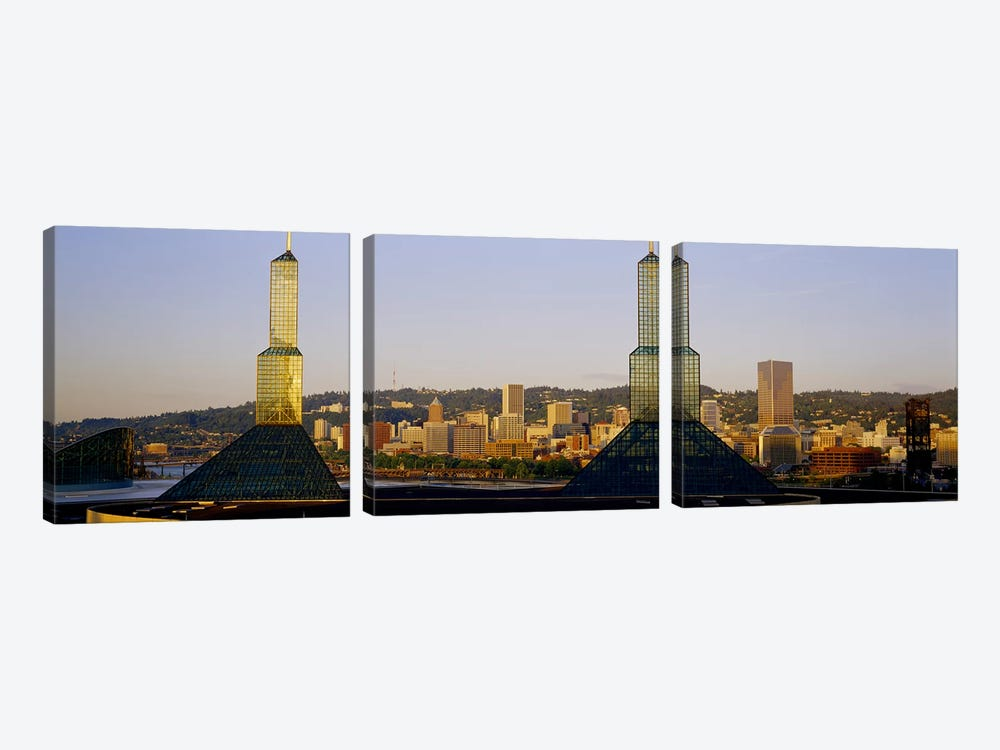 Twin Towers of a Convention Center, Portland, Oregon, USA #3 by Panoramic Images 3-piece Canvas Print