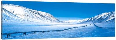 Alaska Pipeline Brooks Range AK Canvas Print #PIM413
