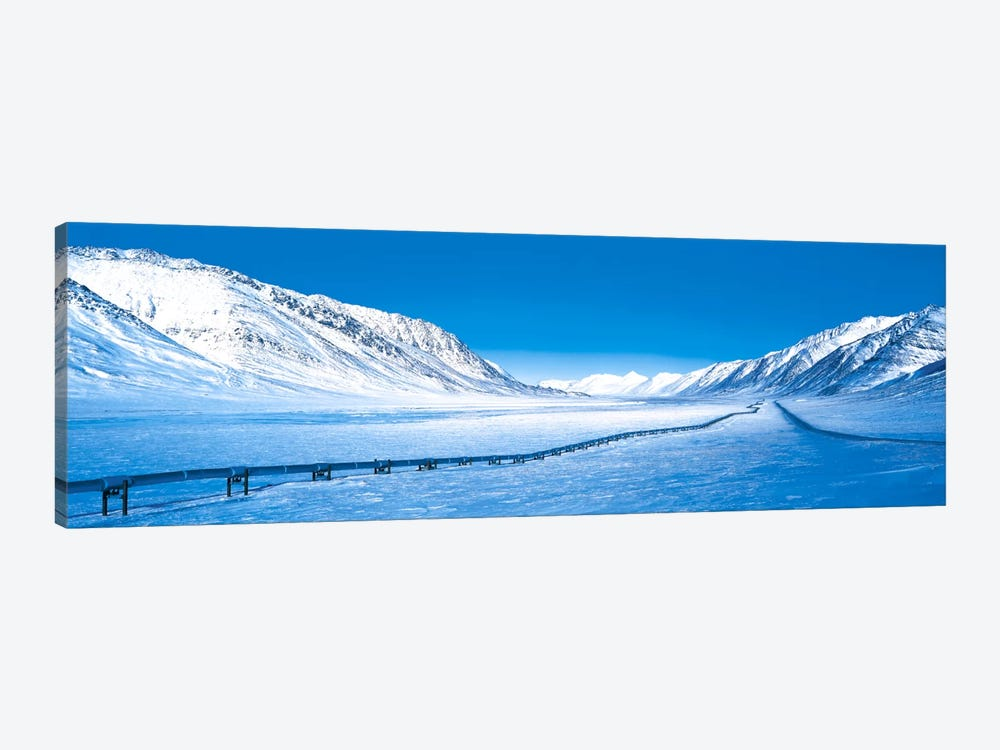 Alaska Pipeline Brooks Range AK by Panoramic Images 1-piece Art Print